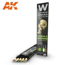 Weathering Pencil Set Green & Brown Camouflage