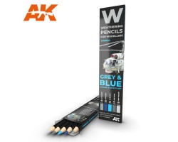 Weathering Pencil Set Grey and Blue Camouflages