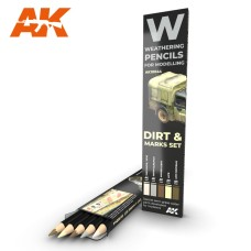 Weathering Pencil Set Dirt and Marks