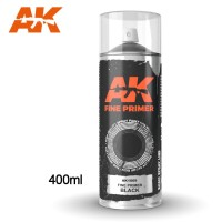 AK Interactive Fine Primer Black Spray