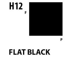 Mr Hobby Aqueous Hobby Colour H012 Flat Black
