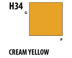 Mr Hobby Aqueous Hobby Colour H034 : Cream Yellow
