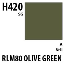 Mr Hobby Aqueous Hobby Colour H420 RLM80 Olive Green