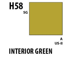 Mr Hobby Aqueous Hobby Colour H058 Interior Green