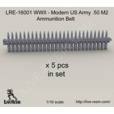 LRE16001   WWII - Modern US Army .50 M2 Ammunition Belt for 1/16 scale tanks