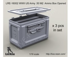 LRE16002   WWII US Army .50 M2 Ammunition Ammo Box Opened