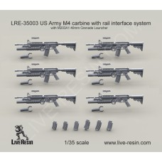 LRE35003 US Army M4 carbine with M203A1 40mm Grenade Launcher