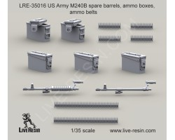 LRE35016 M240B spare barrels, ammo boxes, ammo belts
