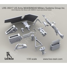 LRE35017 M240B Military Systems Group Inc. H24-6 Machine Gun Mount with HMMWV mount and armour shield