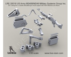 LRE35018 M240B/M249 Military Systems Group Inc. SA 1 Swing Arm a double articulated gun mount support with H24-6 Machine Gun Mount