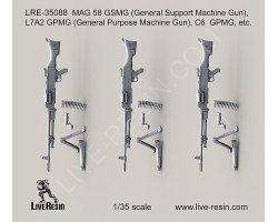 LRE35088 MAG 58 GSMG (General Support Machine Gun), L7A2 GPMG (General Purpose Machine Gun), C6 GPMG, etc.