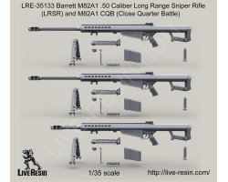 LRE35133 Barrett M82A1 .50 Caliber Long Range Sniper Rifle (LRSR) and M82A1 CQB