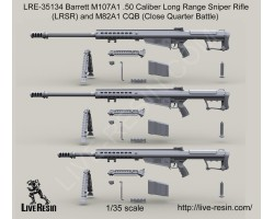 LRE35134 Barrett M107A1 .50 Caliber Long Range Sniper Rifle (LRSR) and M107A1 CQB