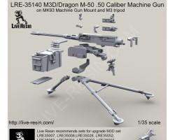 LRE35140 M3D/Dragon M-50 .50 Caliber Machine Gun on M3 tripod