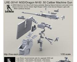 LRE35141 M3D/Dragon M-50 .50 Caliber Machine Gun on MK93 Machine Gun Mount with heavy pedestal