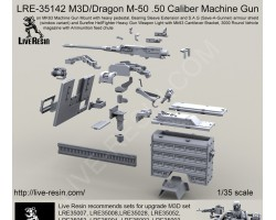 LRE35142 M3D/Dragon M-50 .50 Caliber Machine Gun, with 6000 round box and elastic feed chute