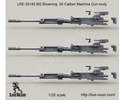 LRE35145 M2 Browning .50 Caliber Machine Gun Body with Surefire HellFighter Mount barrel bracket, M2 NV sight mount