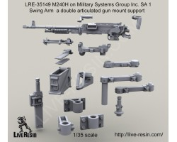 LRE35149 M240H on Military Systems Group Inc. SA 1 Swing Arm a double articulated gun mount support