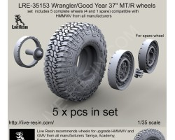 "LRE35153 Wrangler/Good Year 37"" MT/R tire and wheels set"