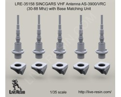 LRE35158 SINCGARS VHF Antenna AS-3900/VRC (30-88 Mhz) with Base Matching Unit