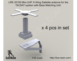 LRE35159 Mini-UHF X-Wing Sattelite antenna for the TACSAT system with Base Matching Unit