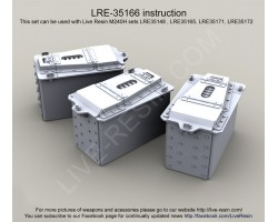 LRE35166 M240H Dillon Aero standard 200 round ammunition can.