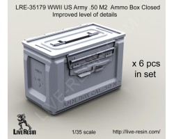 LRE35179 WWII US Army .50 M2 Ammunition Ammo Box Closed, improved level of details