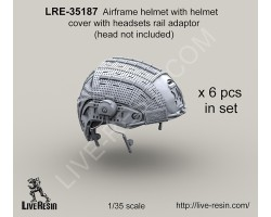 LRE35187 Airframe helmet with helmet cover with headsets rail adaptor