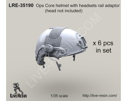LRE35190 Ops Core helmet with headsets rail adaptor