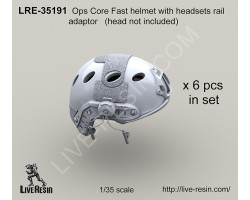 LRE35191 Ops Core fast helmet with headsets rail adaptor