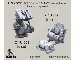LRE35197 WILCOX L4 G24 NVG Helmet Mount closed and opened