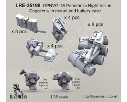 LRE35198 GPNVG-18 Panoramic Night Vision Goggles with mount and battery case