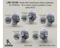 LRE35199 Head with balaclavas without glasses for GPNVG-18 in down (work) position or any other NVG
