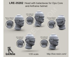 LRE35202 Head with balaclavas for Ops Core and Airframe helmet