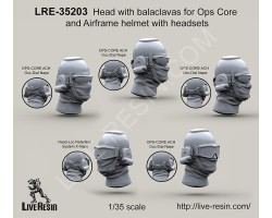 LRE35203 Head with balaclavas for Ops Core and Airframe helmet with headsets