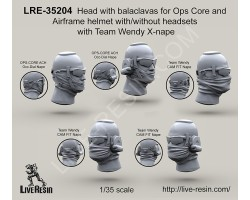 LRE35204 Head with balaclavas for Ops Core and Airframe helmet with/without headsets with Team Wendy X-nape
