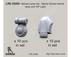 LRE35205 Helmet Lamp set - Manta Strobe helmet lamp and VIP Light