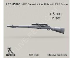 LRE35206 M1C Garand sniper Rifle with M82 Scope