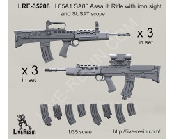 LRE35208 L85A1 SA80 Assault Rifle with iron sight and SUSAT scope