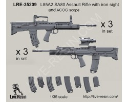 LRE35209 L85A2 SA80 Assault Rifle with iron sight and ACOG scope