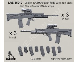 LRE35210 L85A2 SA80 Assault Rifle with iron sight and Elcan Specter OS 4x scope