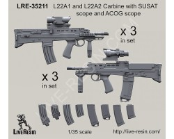 LRE35212 L22A1 and L22A2 Carbine with SUSAT scope and ACOG scope