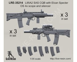LRE35214 L85A2 SAS CQB with Elcan Specter OS 4x scope and Silencer