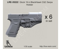 LRE35222 Glock 19 in BlackHawk CQC Serpa Holster