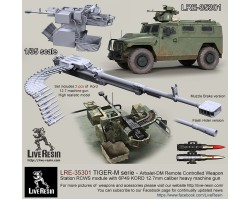 LRE35301 TIGER-M series - Arbalet-DM Remote Controlled Weapon Station RCWS module with 6P49 KORD 12.7mm caliber heavy machine gun.