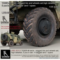 LRE35312 TIGER-M series - sagged tire and wheels set