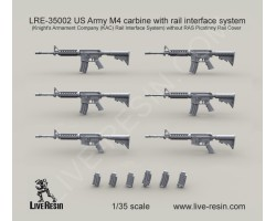 LRE35002 US Army M4 carbine with rail interface system