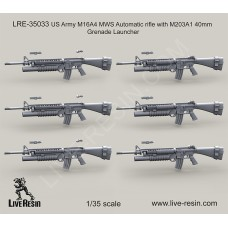 LRE35033 US Army M16A4 MWS Automatic rifle with M203A1 40mm Grenade Launcher
