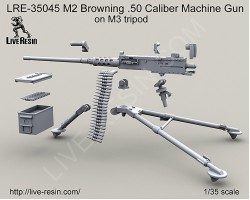 LRE35045 M2 Browning .50 Caliber Machine Gun on M3 tripod