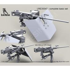 LRE35047 M2 Browning .50 Caliber Machine Gun on MK93 Machine Gun Mount with Bearing Sleeve pedestal